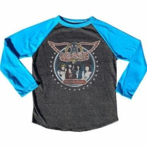 NEW Aerosmith Boys Girls Concert Tee L/S 12 Last 1
